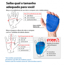 PALMAR MUSCULAÇÃO FOSCO PRETO 01PAR - CRAWNESS - Palmares - Musculação - 00359 - Tanquinho Suplementos