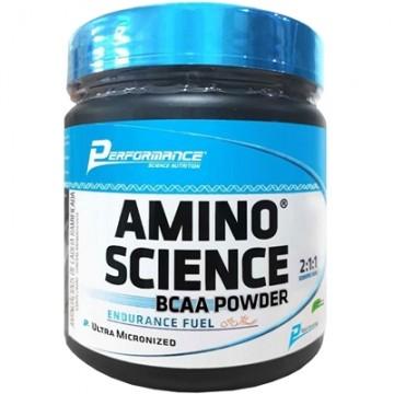 AMINO SCIENCE BCAA POWDER 2:1:1 300G - PERFORMANCE - BCAA - Aminoácidos - 00330 - Tanquinho Suplementos