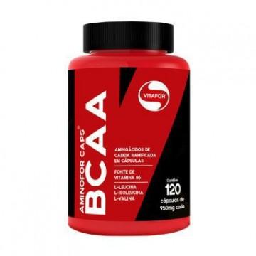 AMINOFOR BCAA 120CAPS - VITAFOR - BCAA - Aminoácidos - 00245 - Tanquinho Suplementos