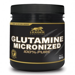 GLUTAMINE MICRONIZED 100% PURE 300G - LEADER NUTRITION