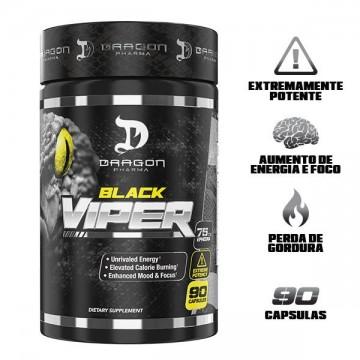 BLACK VIPER 90CAPS - DRAGON PHARMA - Termogênicos e Queimadores - Emagrecimento - 00227 - Tanquinho Suplementos