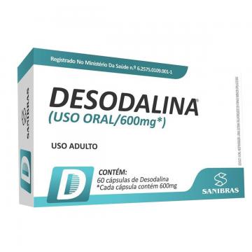 DESODALINA 600MG 60CAPS - SANIBRAS - Termogênicos e Queimadores - Emagrecimento - 00112 - Tanquinho Suplementos