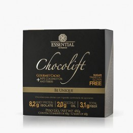CHOCOLIFT BE UNIQUE GOURMET CACAO 40G CAIXA 12UNID - ESSENTIAL NUTRITION