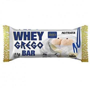WHEY GREGO BAR BEIJINHO 40G 01UNID - NUTRATA - Barras Protéicas - Massa Muscular - 00381 - Tanquinho Suplementos