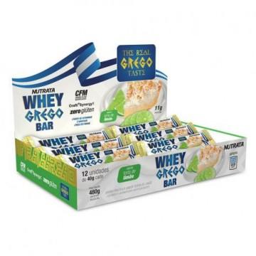 WHEY GREGO BAR 40G CAIXA 12UNID - NUTRATA - Barras Protéicas - Massa Muscular - 00404 - Tanquinho Suplementos