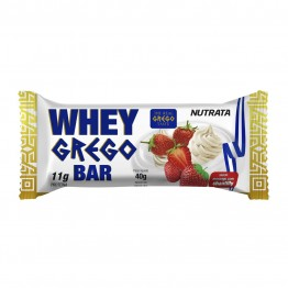 WHEY GREGO BAR MORANGO COM CHANTILLY 40G 01UNID - NUTRATA