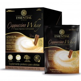 CAPPUCCINO WHEY BOX 448G 14SACHÊS - ESSENTIAL NUTRITION