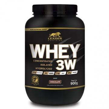 WHEY 3W 900G - LEADER NUTRITION - Whey Protein - Proteínas - 00225 - Tanquinho Suplementos