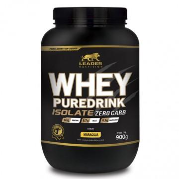 WHEY PUREDRINK ISOLATE ZERO CARB 900G - LEADER NUTRITION - Whey Protein Isolado - Proteínas - 00161 - Tanquinho Suplementos