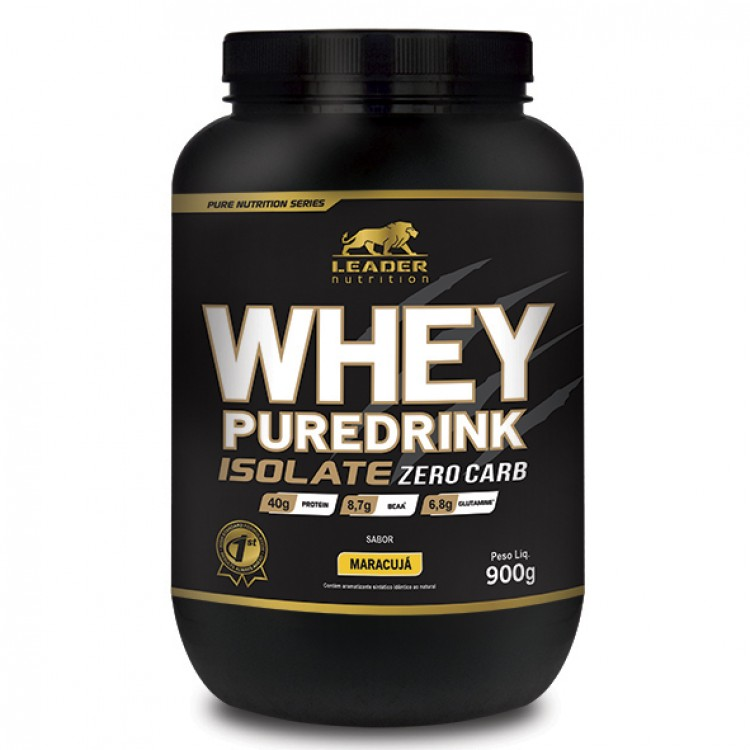 265ff95f7 WHEY PUREDRINK ISOLATE ZERO CARB 900G - LEADER NUTRITION - Whey Protein  Isolado - Proteínas -