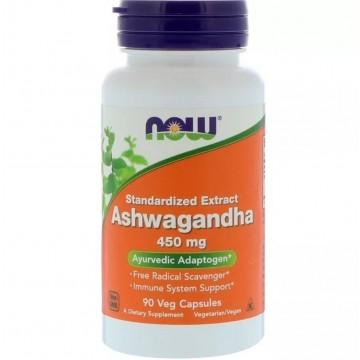 ASHWAGANDHA 450MG 90CAPS - NOW - Produtos Naturais - Saúde & Beleza - 00338 - Tanquinho Suplementos