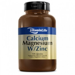 CALCIUM MAGNESIUM W/ZINC 120CAPS - VITAMINLIFE - Vitaminas - Vitaminas e Minerais - 00081 - Tanquinho Suplementos