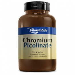 CHROMIUM PICOLINATE 90CAPS - VITAMINLIFE - Cromo - Vitaminas e Minerais - 00077 - Tanquinho Suplementos