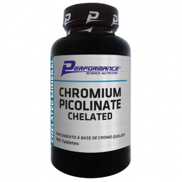CHROMIUM PICOLINATE CHELATED 100CAPS - PERFORMANCE - Vitaminas - Vitaminas e Minerais - 00388 - Tanquinho Suplementos