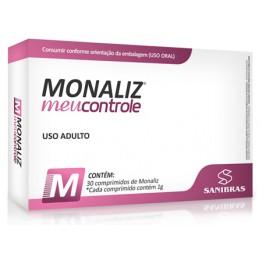 MONALIZ MEU CONTROLE 30CAPS - SANIBRAS - Cromo - Vitaminas e Minerais - 00165 - Tanquinho Suplementos