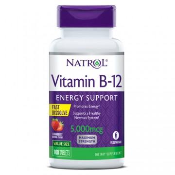 VITAMIN B-12 5.000MCG 100CAPS - NATROL - Vitaminas - Vitaminas e Minerais - 00403 - Tanquinho Suplementos